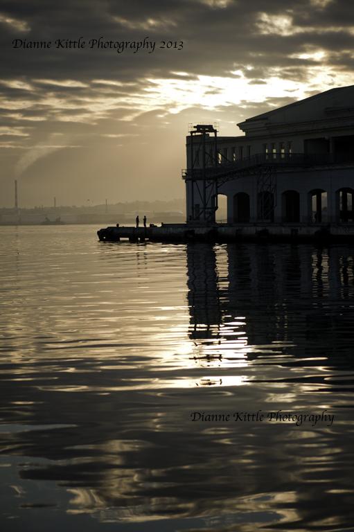 Sunrise at pier.